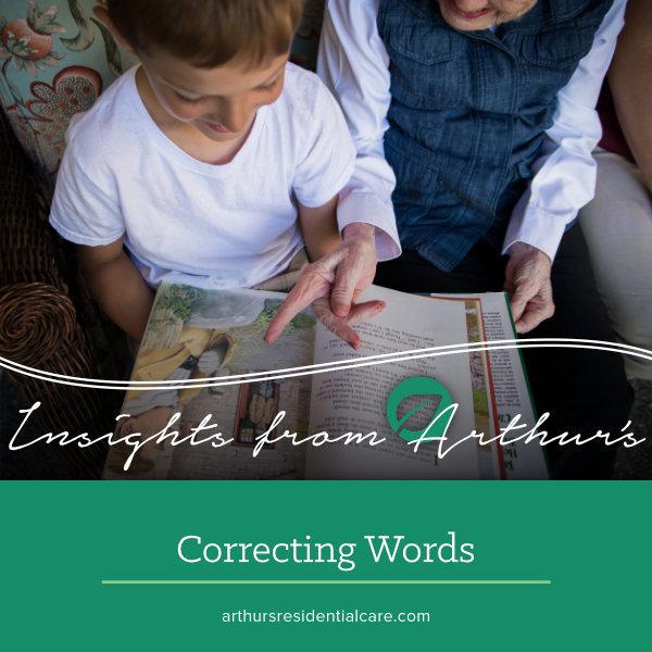 Correcting words