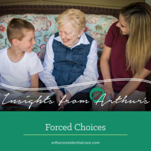 Offering forced choices