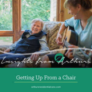 Getting up from a chair
